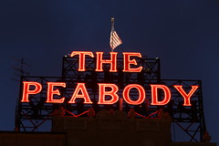 The Peabody Hotel in Memphis at night