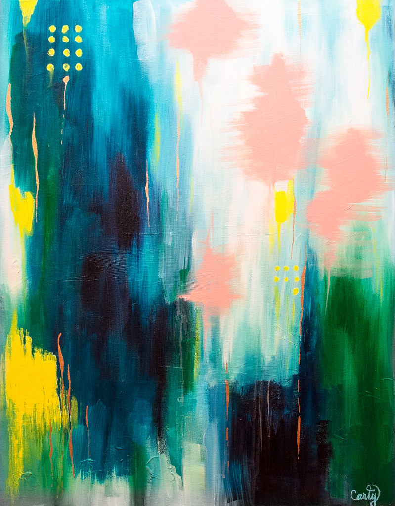 Abstract Acrylic Painting by Megan Carty