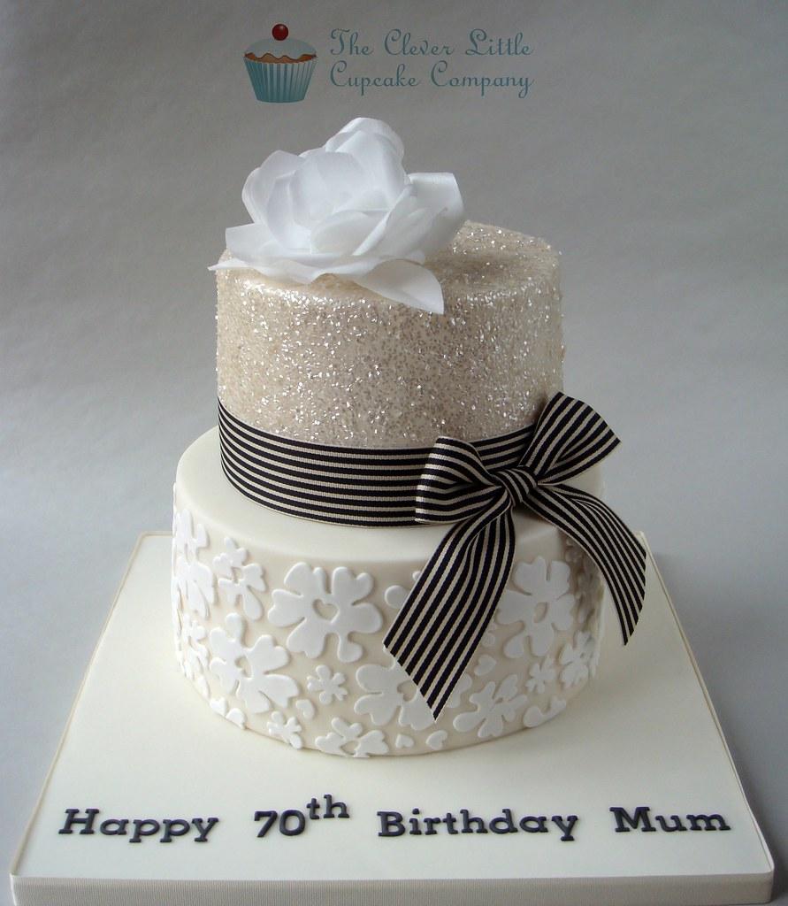 Glittery 70th Birthday Cake