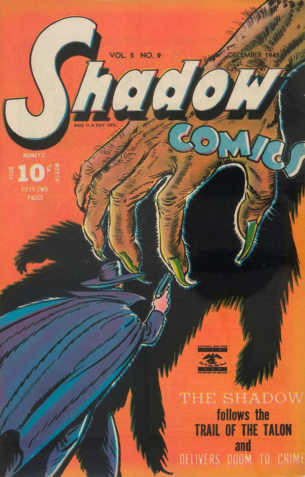 Shadow Comics v5 #9 (Street & Smith Pub., 1945) Charles Coll Cover