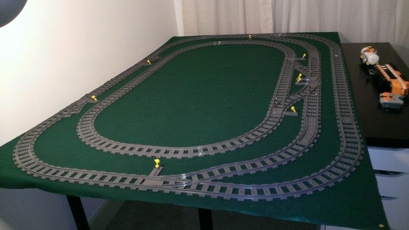 My 2014 Layout A World In 35 Plates LEGO Train Tech