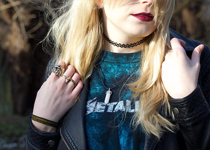 OOTD outfit EMP Metallica Forever21 H&M Grunge Biker Brandy Melville