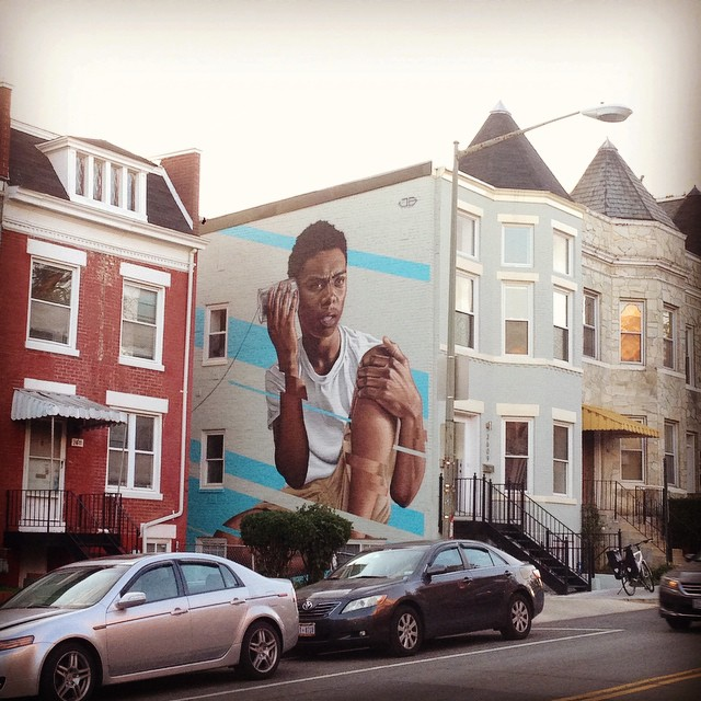 Awesome mural on 13th #mural #columbiaheights