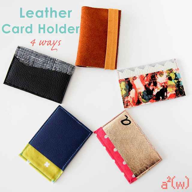 Leather Card Holder 4 ways by a.squared.w