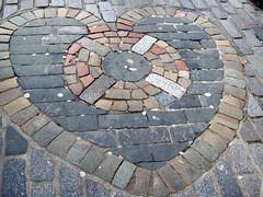 art, flagstone, cobblestone, circle, road surface, brick,