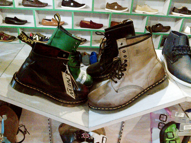 A selection of Doc Martens for sale in Cubao