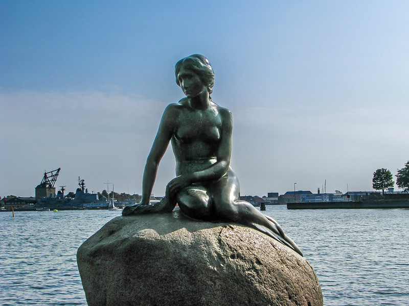 statue of the little mermaid - Copenhagen (Denmark)
