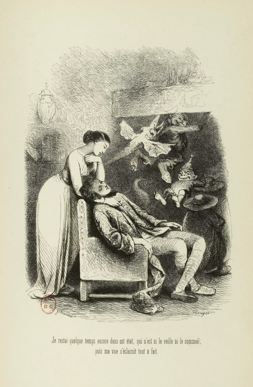 "Tony Johannot - Illustration for ""Voyage où il vous plaira"" by Musset and Stahl (1843) 10"
