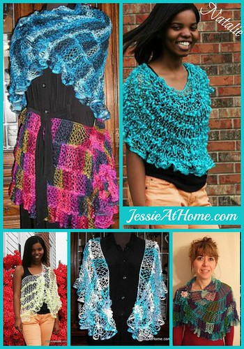 Natalie Net Shawl or Wrap Crochet Pattern by Jessie At Home