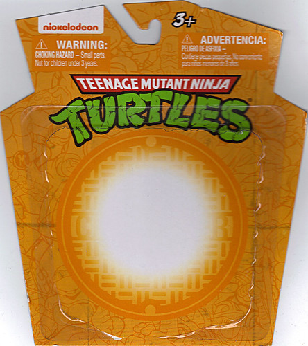 MONOGRAM INTERNATIONAL :: TEENAGE MUTANT NINJA TURTLES; COLLECTIBLE FIGURINES / MICHELANGELO ..card backer (( 2014 ))
