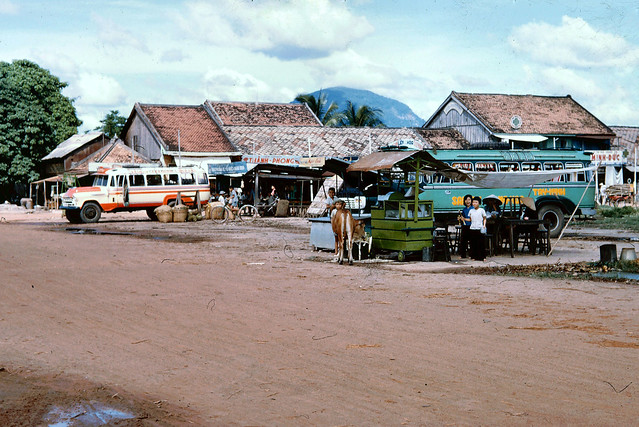 TAY NINH 1965 - Bus Station - Photo by John Hansen