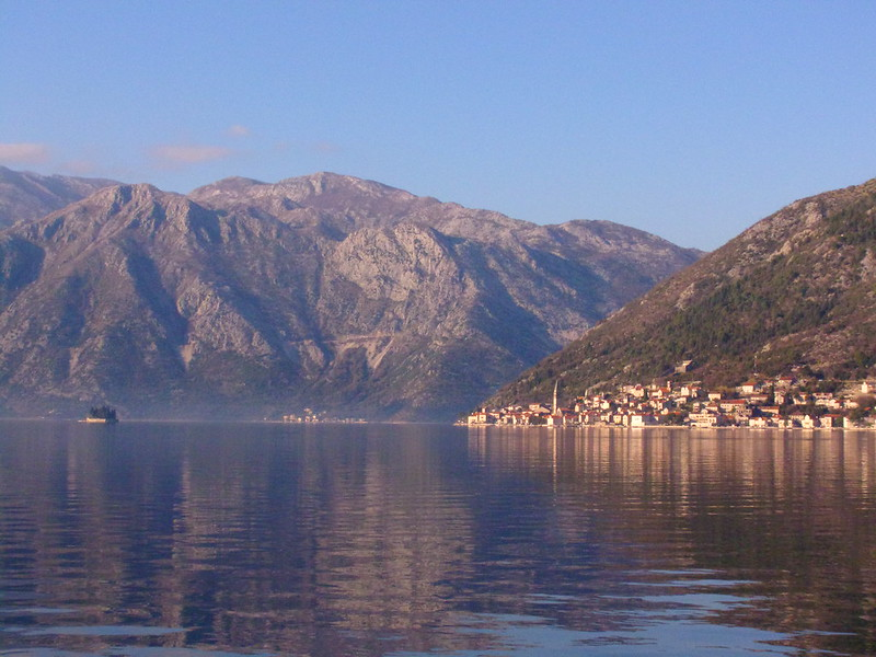 Perast from across the bay