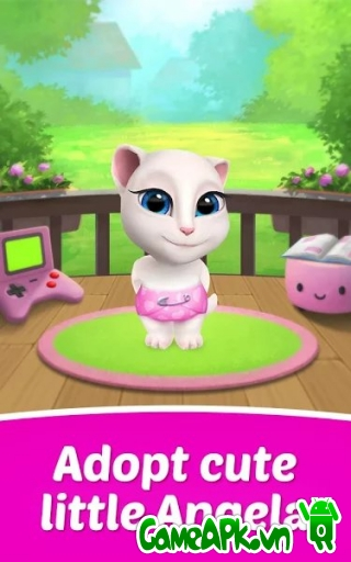 My Talking Angela v1.7.1 hack full tiền cho Android