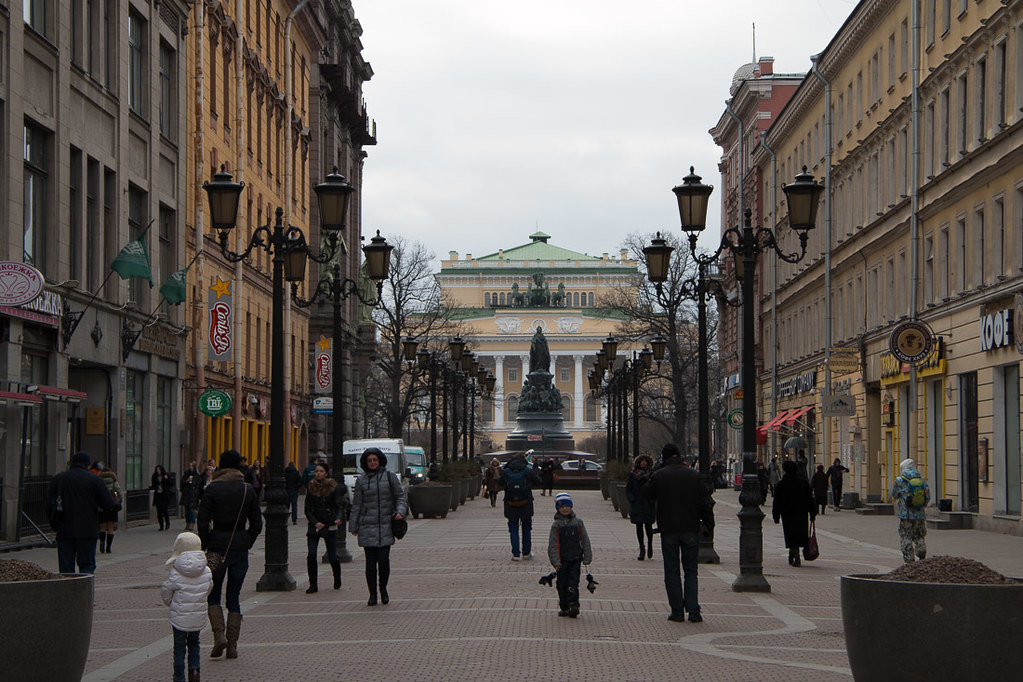 Side streets from Nevsky Prospect