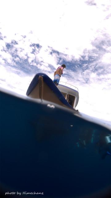 ダイビングの時に乗ってるドーニ