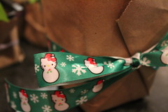 I wasn't kidding about the Christmas Hello Kitty ribbon