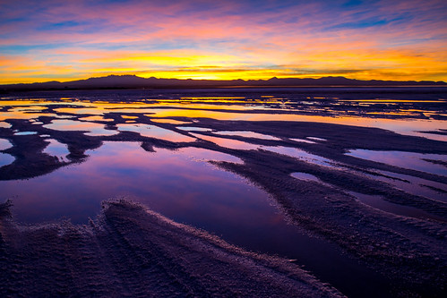 sunset colour reflection southamerica nature water bolivia saltlake lithium salardeuyuni 9914b