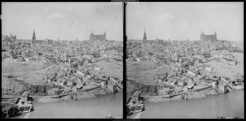 Vista general de Toledo hacia 1900. Fotografía de Alois Beer © Österreichische Nationalbibliothek