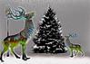 Xmas Tree with Reindeer