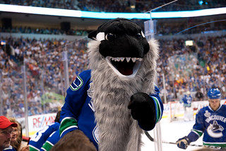 "Vancouver Canucks Mascot ""Fin"""