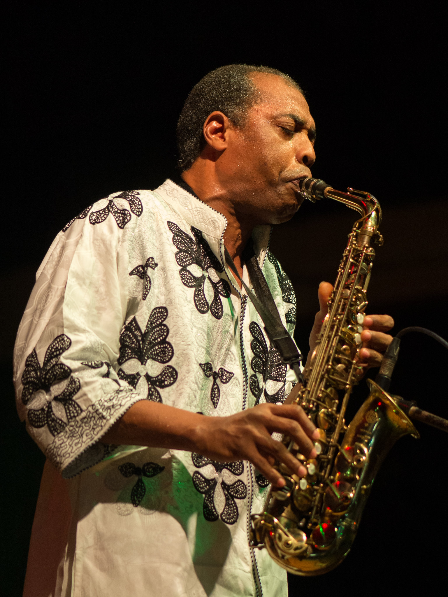 Femi Kuti Plays the Sax