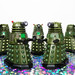 """New to collection 1.5"""" Daleks .....Paint still wet!  ;)"""