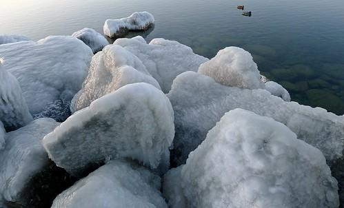 sunset lake canada ice water rocks britishcolumbia okanagan ducks h2o panasonic mallard icy penticton solid okanaganlake lx5 nigeldawson dmclx5 jasbond007 copyrightnigeldawson2014