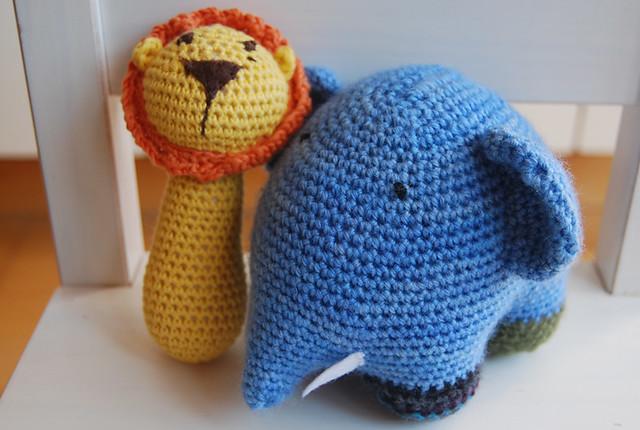 león y elefante amigurumi ganchillo crochet