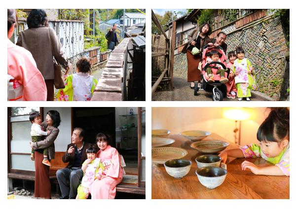 七五三写真 出張撮影 愛知県瀬戸市 深川神社 窯垣の小径 自然な ナチュラル 家族写真