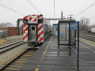 Metra Electric District Train passing 95th Street (Chicago State University Station)