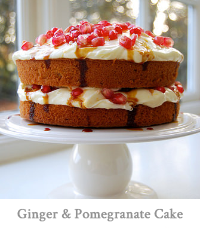 Ginger & Pomegranate Cake