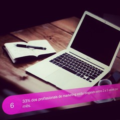 Você sabia? 33% dos profissionais de marketing estão blogando entre 2 a 5 vezes por mês. *************** É amanhã, nosso encontro pra discutir as tendências que precisamos ficar de olho no marketing digital para 2015. WEBINAR GRATUITO. *************** Já