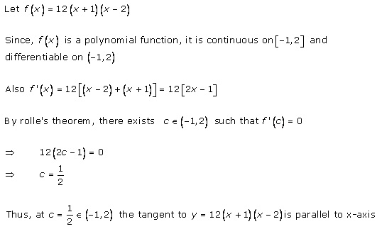 RD Sharma Class 12 Solutions Chapter 15 Mean Value Theorems Ex 15.1 Q8-iii