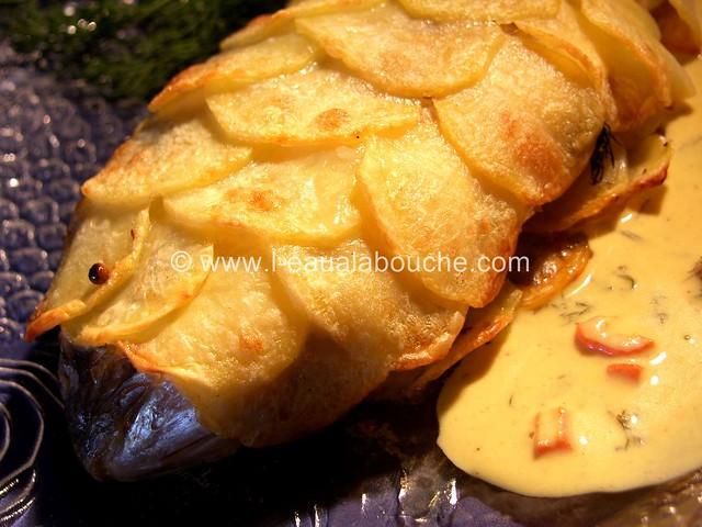Dorade en Ecailles de Pommes de Terre Sauce Moutarde © Ana Luthi
