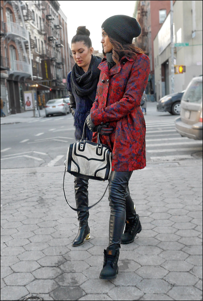 SS1-15  6w2 red and purple pattern coat leather pants work boots leather coat big scarf leather pants
