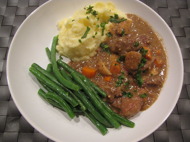 Beef Stew with Brandy & Dijon