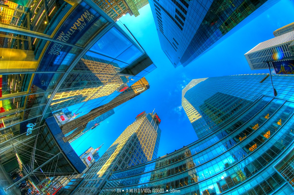 ►►► NYC Under Fisheye 魚眼下的紐約 2015 HDR ● DV ◄◄◄