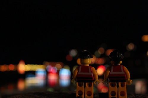 The little guys enjoying the lights