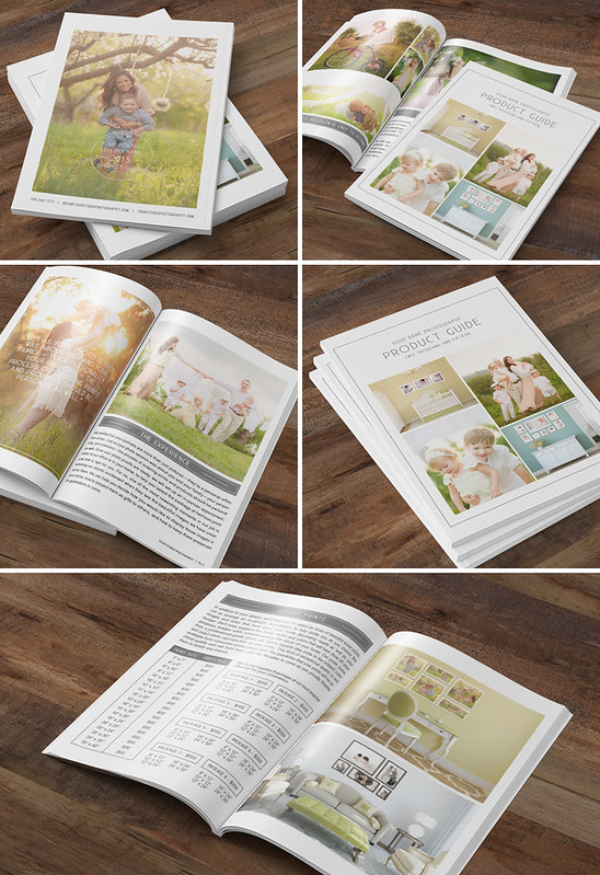 Photography Studio Product Guide Magazine Template www.hazyskiesdesigns.com