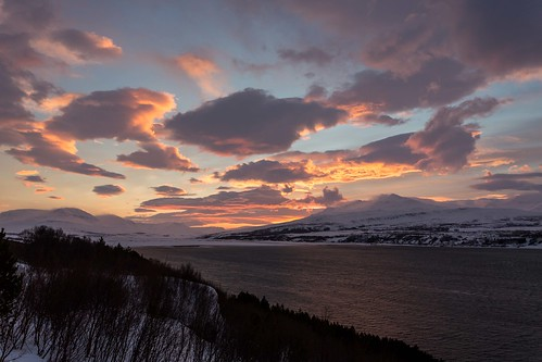 christmas winter sunset sea sky snow clouds canon iceland ísland eyjafjordur einarschioth