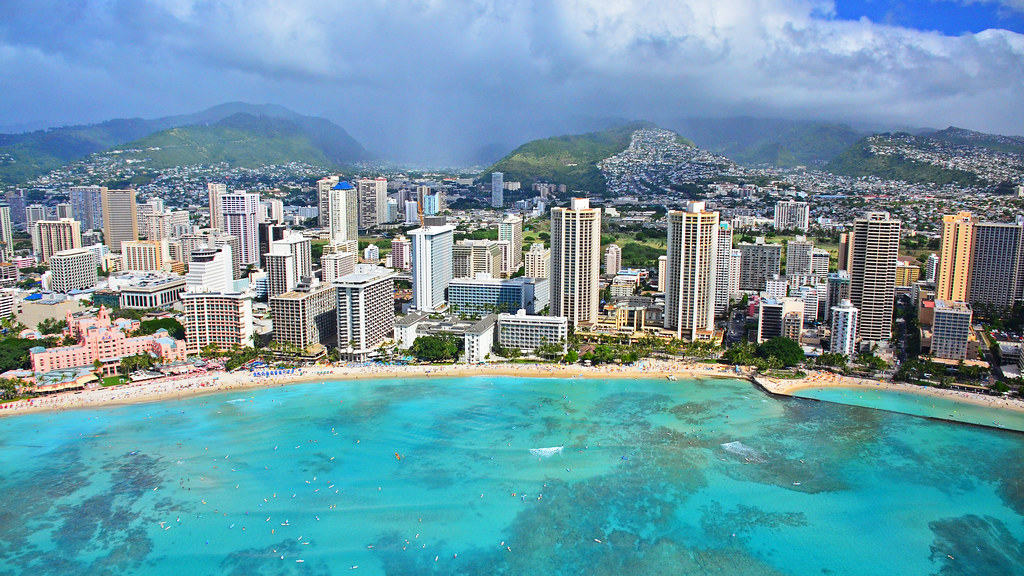 Waikiki Hawaii From The Air