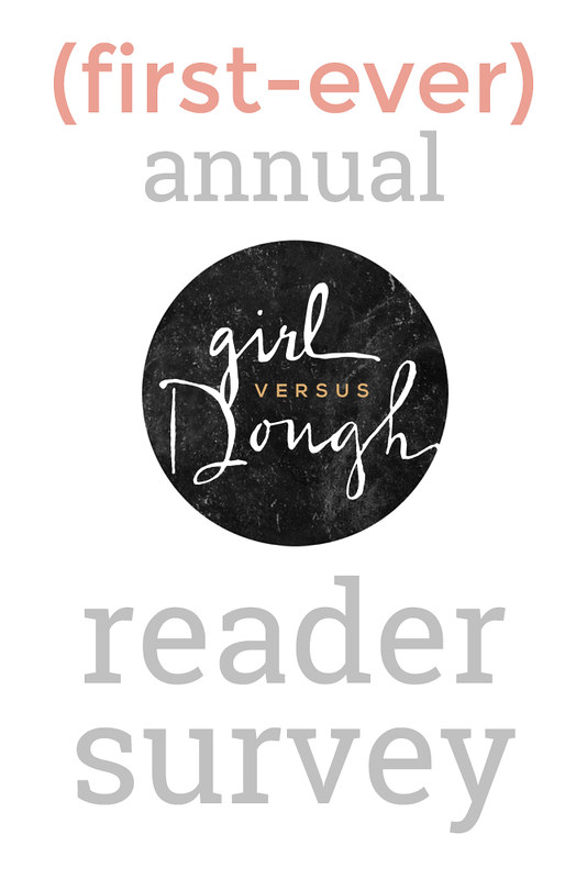Girl Versus Dough 2015 Annual Reader Survey | girlversusdough.com @stephmwise
