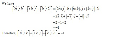 RD Sharma Class 12 Solutions Chapter 26 Scalar Triple Product Ex 26.1 Q1-ii