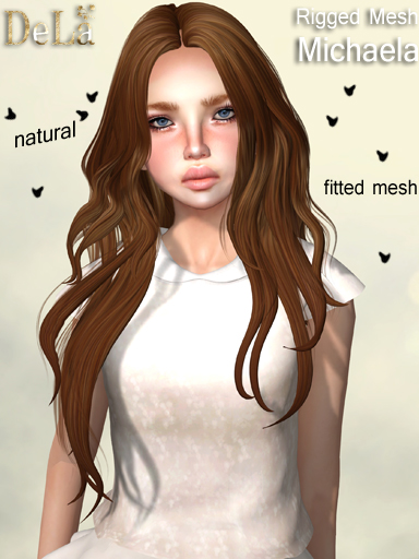"=DeLa*= New Rigged Mesh Hair ""Michaela"""