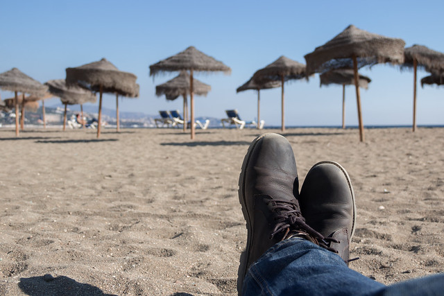 Malaga Beach - Spain - Traveling Boots