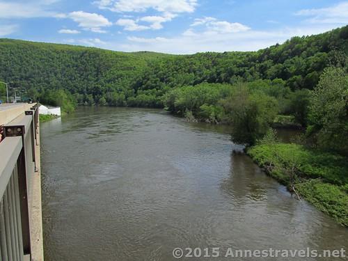 The Delaware River near the I-80 / Appalachian Trail Bridge, Delaware Water Gap National Recreation Area, Pennsylvania
