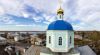 Вид с колокольни Успенской церкви