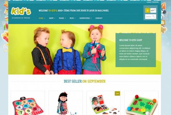Kidshop v1.3.8 - A creative Kid's ecommerce theme
