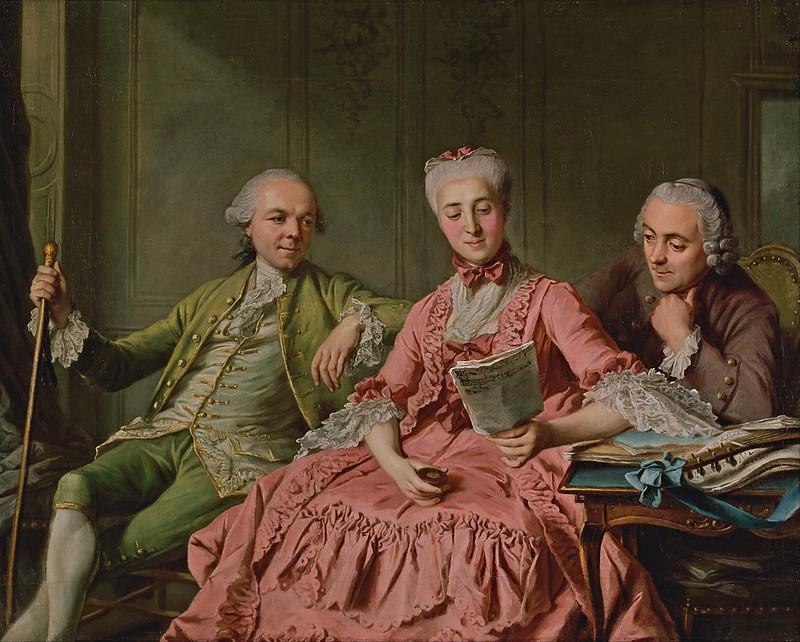 Jacques Wilbaut - Presumed Portrait of the Duc de Choiseul and Two Companions (c.1775)