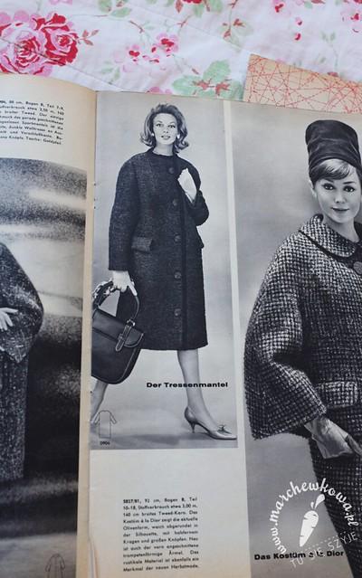 Szyciowy Blog Roku 2012, krawiectwo, wykroje, instrukcje, płaszcz, retro, vintage, coat 0904, Beyer Mode 9/1960